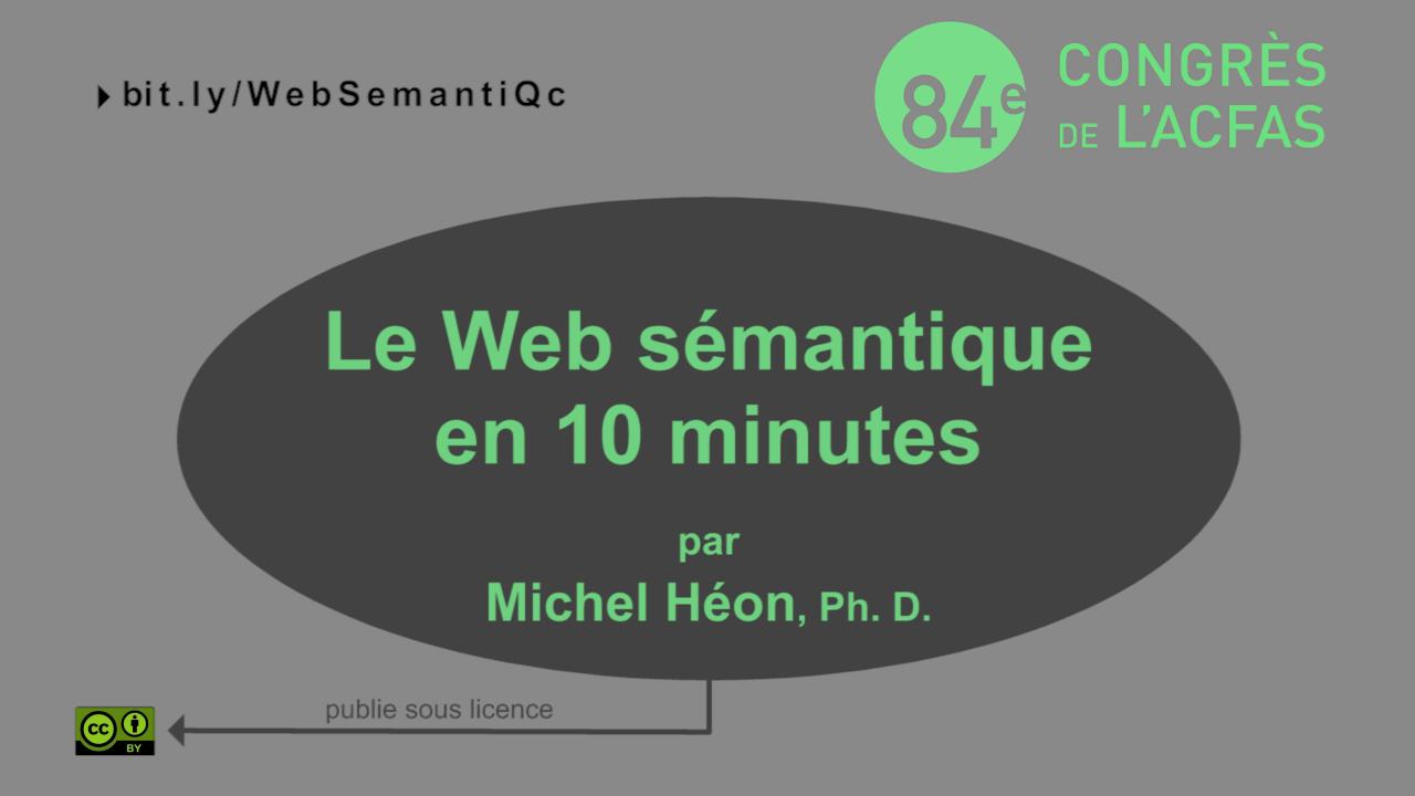 Le Web sémantique en 10 minutes