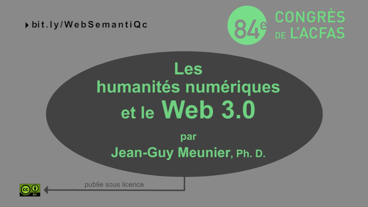 Les humanités numériques: un défi pour le web semantique