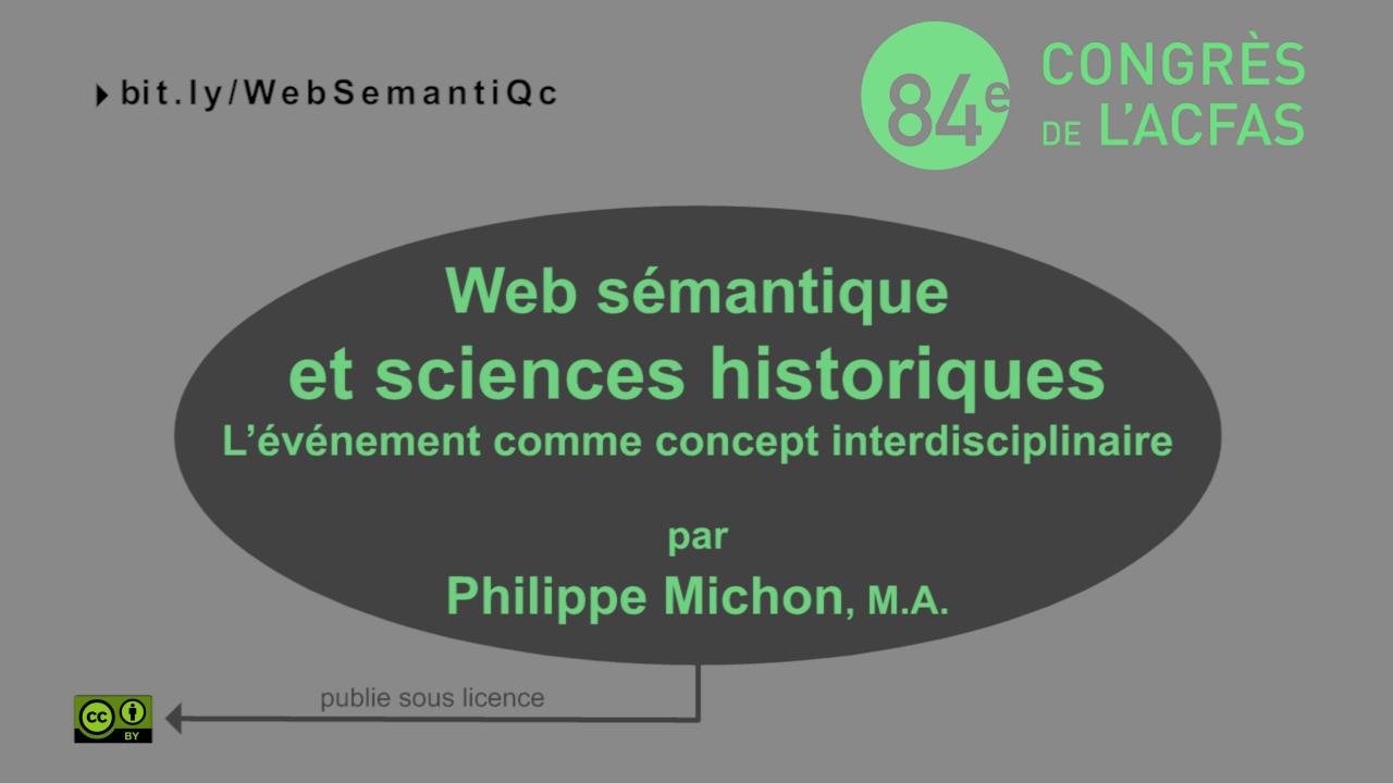 Web sémantique, CIDOC CRM et sciences historiques