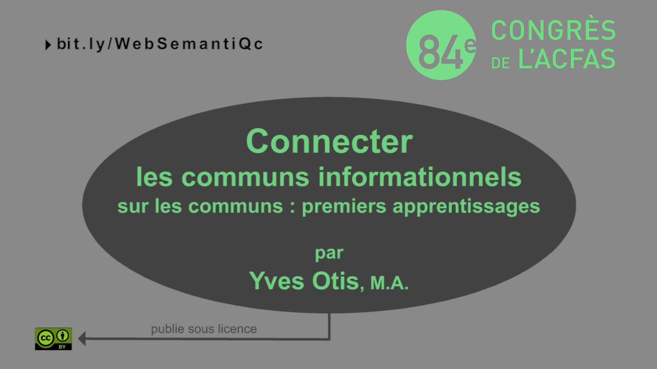 Connecter les communs informationnels sur les Communs: premiers apprentissages