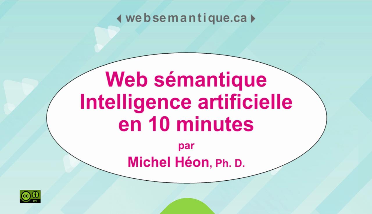 De l'intelligence artificielle dans le web sémantique en 10 minutes
