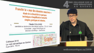 Claude Coulombe au Colloque sur le web sémantique au Québec