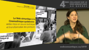 Marina Gallet au Colloque sur le Web sémantique